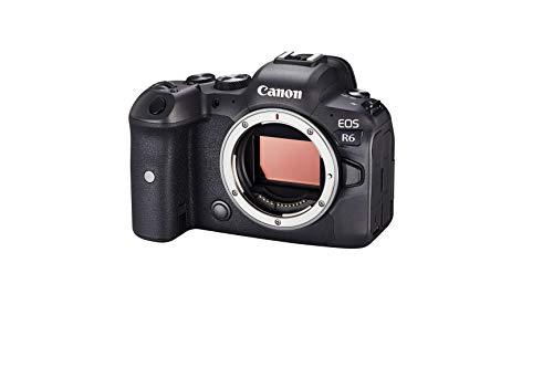 Canon EOS R6 Vollformat Systemkamera - Gehäuse (spiegellos, 20,1 MP, DIGIC X, 4K UHD, 5 Achsen Bildstabilisator, 7,5 cm vari angle LCD II, WLAN, Bluetooth, USB 3.1, Dual Pixel CMOS AF II),...