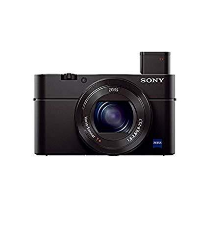 Sony RX100 III   Premium-Kompaktkamera (1,0-Typ-Sensor, 24-70 mm F1.8-2.8 Zeiss-Objektiv und neigbares Display für Vlogging)