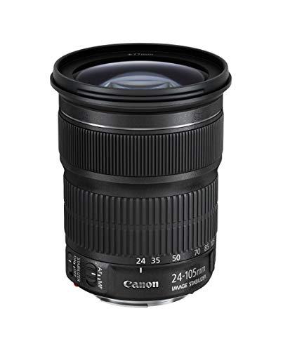 Canon Zoomobjektiv EF 24-105mm F3.5-5.6 IS STM für EOS (77mm Filtergewinde, Bildstabilisator, APS-C Sensor, Autofokus), schwarz