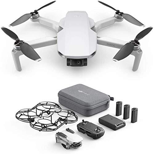 DJI Mavic Mini Fly More Combo (EU) – Drohne und Zubehör Kit, leicht und tragbar, Flugzeit: 30 Min, Übertragungsentfernung: 2 km HD-Videoübertragung, 3-Achsen-Gimbal, 12 MP, HD-Video 2,7 K