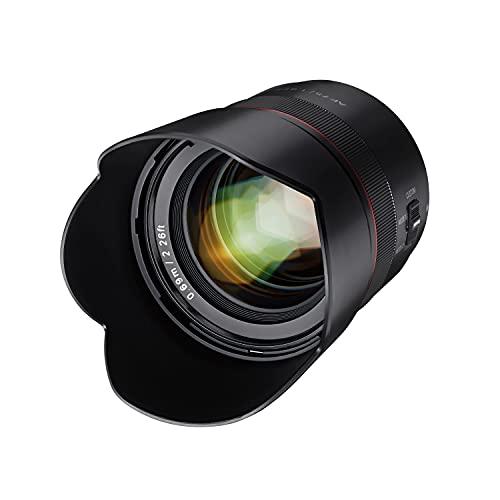 Samyang AF 75mm F1,8 FE für Sony E Portrait-Objektiv für Vollformat & APS-C I ultra leichtes Teleobjektiv mit 32,9° Bildwinkel & schnellem Autofokus I Festbrennweite für Sony A7C, A7 III,...