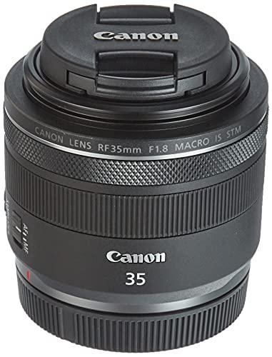 Canon Objektiv RF 35mm F1.8 Makro IS STM für EOS R (Festbrennweite, 52mm Filtergewinde, Bildstabilisator), schwarz