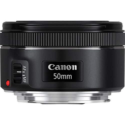 Canon Objektiv 0570C005AA EF 50mm Brennweite F1.8 STM Fokussierung (49mm Filtergewinde), schwarz
