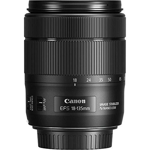 Canon Zoomobjektiv EF-S 18-135mm F3.5-5.6 IS USM für EOS (67mm Filtergewinde, Autofokus, Bildstabilisator), schwarz