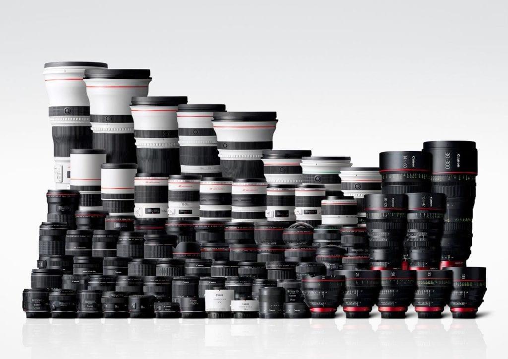 Zahlreiche Canon Objektive