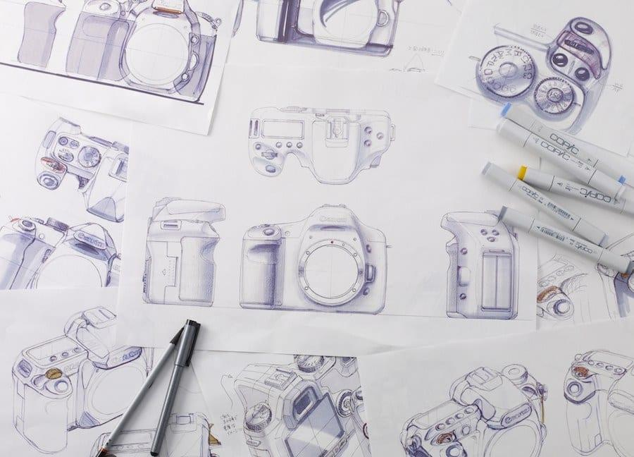 Canon EOS 7D Zeichnung 1