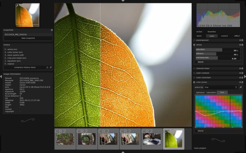 Darkroom, eine kostenlose Lightroom Alternative