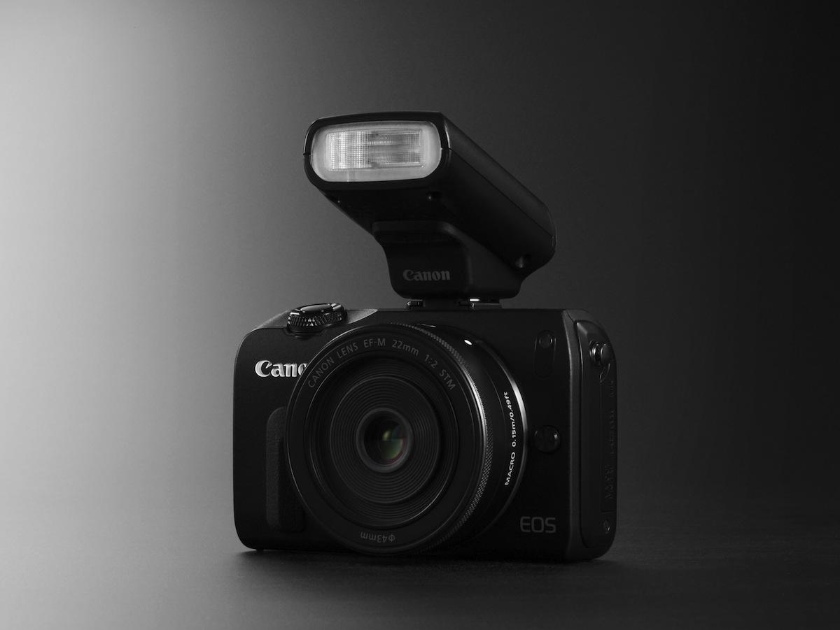EOS M BLACK FSL w EF-M 22mm STM w SPEEDLITE 90EX CREATIVE