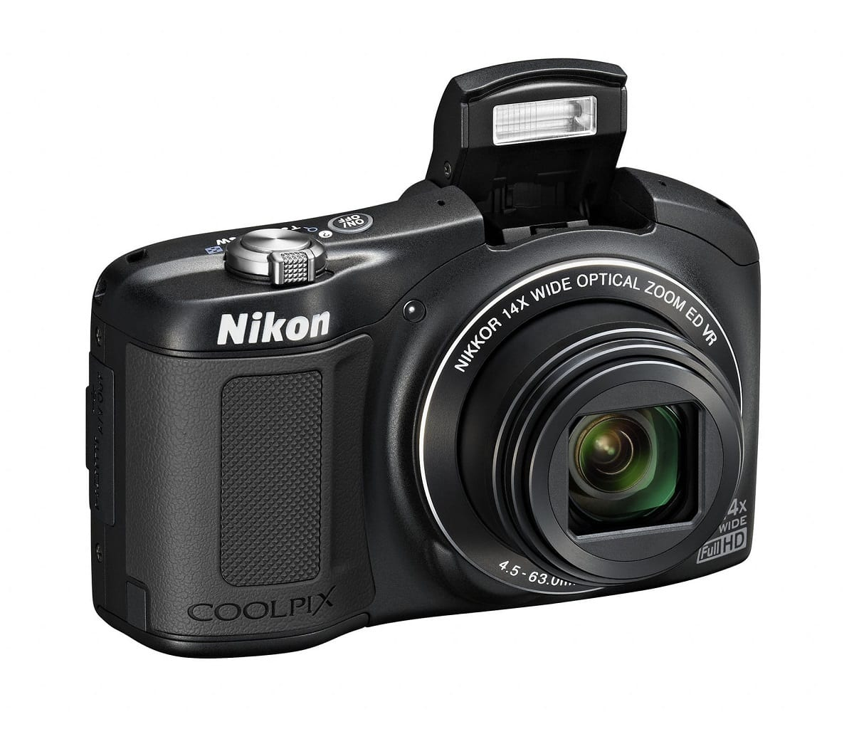 Nikon Coolpix L620 Schwarz Vorderseite
