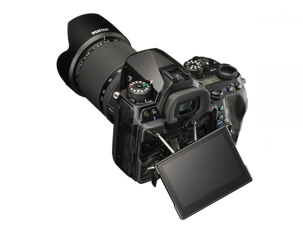 Pentax K-1 flexibles Display
