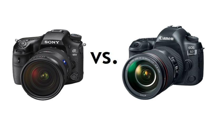 Sony A99 II und Canon 5D Mark IV im Vergleich