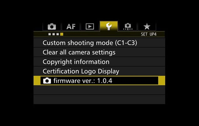 Canon 7D Mark II Firmware 1.0.4
