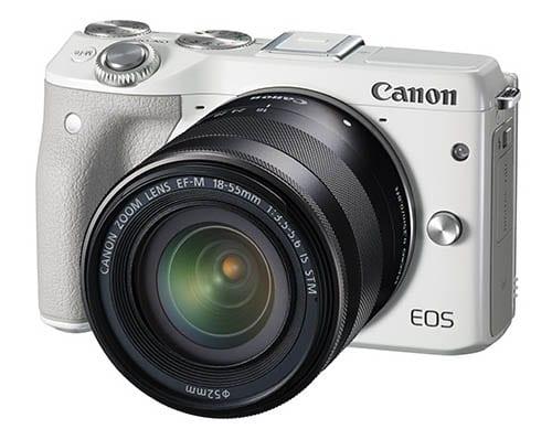 Die neue Canon EOS M3 mit einem großen Griff und mehr Einstellrädern.