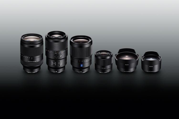 E-Mount Objektive von Sony_Gruppe