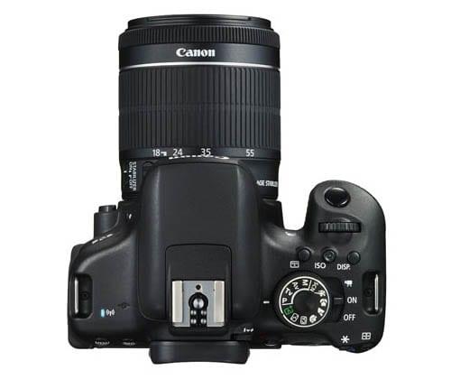 Oberseite der Canon EOS 750D