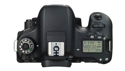 Oberseite der Canon EOS 760D