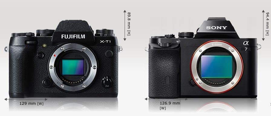 Fuji X-T1 vs Sony A7 1