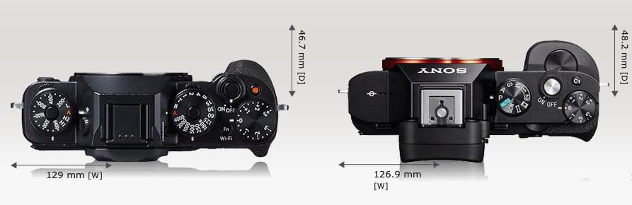 Fuji X-T1 vs Sony A7 3