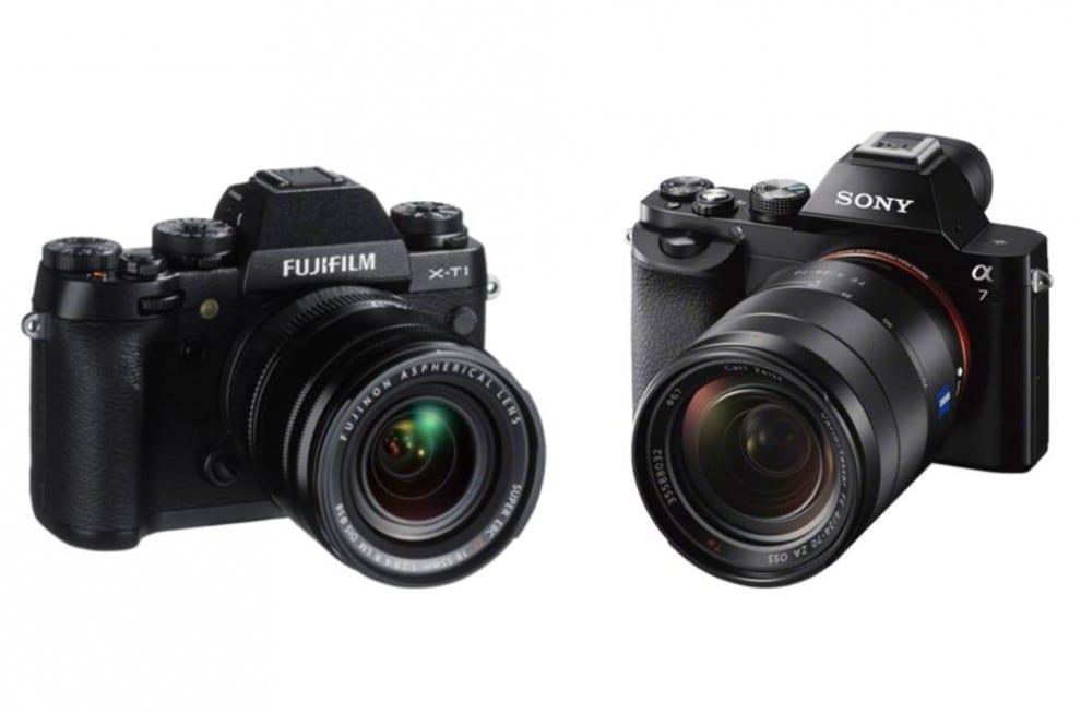Fuji X-T1 vs Sony A7 Vergleich