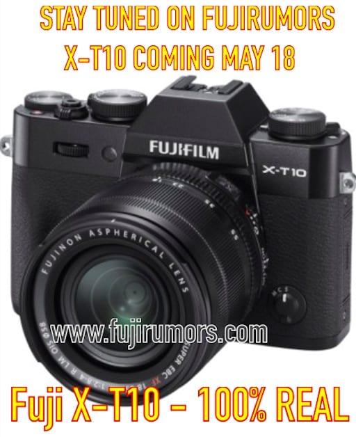 Fuji X-T10 schwarz