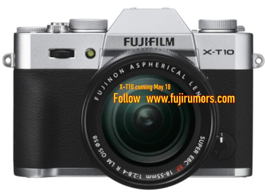 Fuji X-T10 Silber