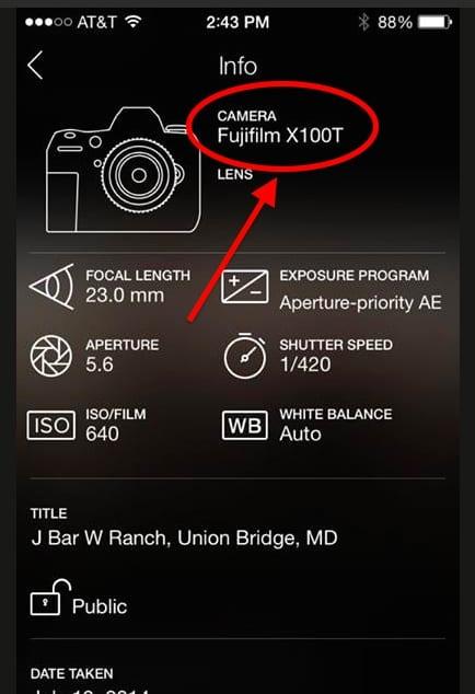 Fuji X100T Exif 1