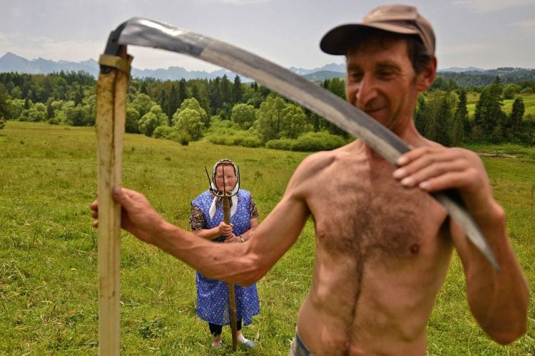 Highlanders Traditional haymaking in Poland. Many people continue to use the scythe and pitchfork to sort the hay. Photo and caption by Bartłomiej Jurecki/National Geographic Traveler Photo Contest