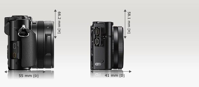 LX100 Sony RX 100 III Größe 1