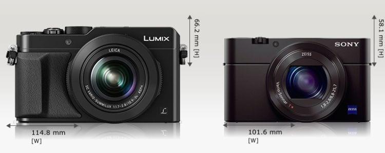 LX100 Sony RX 100 III Größe