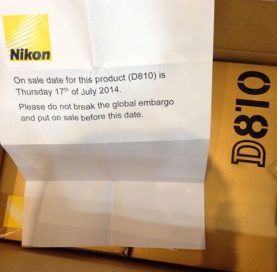 Nikon-D810-camera-shipping-date