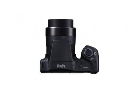PowerShot SX400 IS TOP Black Camera On