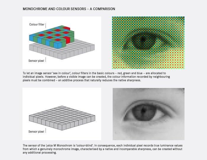 Schwarz-Weiß-Sensor Vorteile