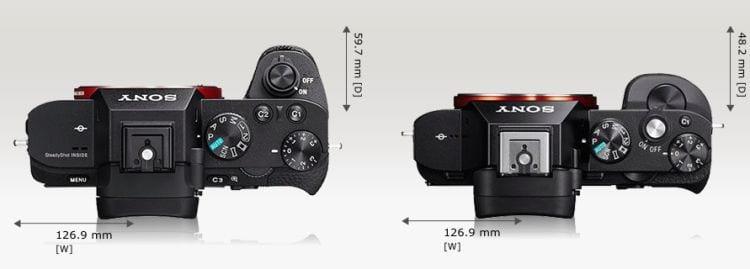 Sony A7 A7 II oben