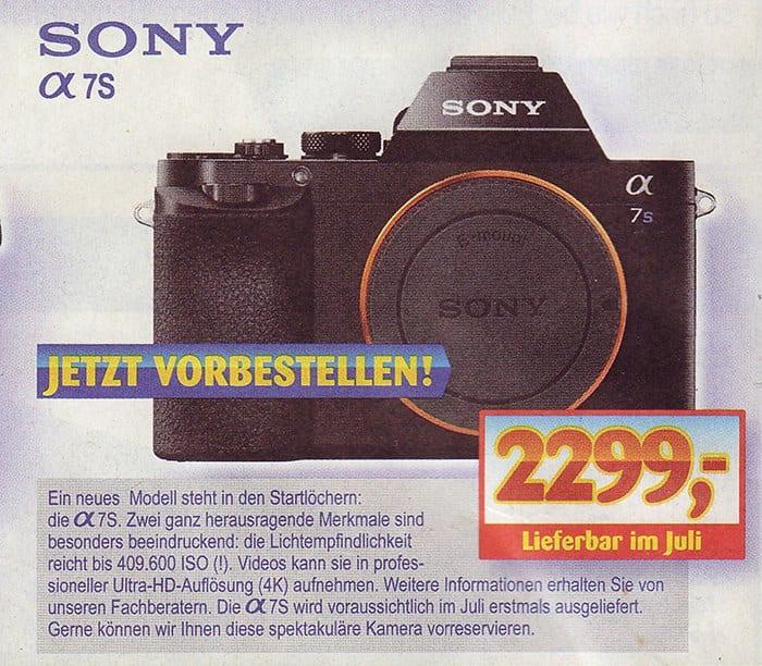 Sony A7s Preis Deutschland