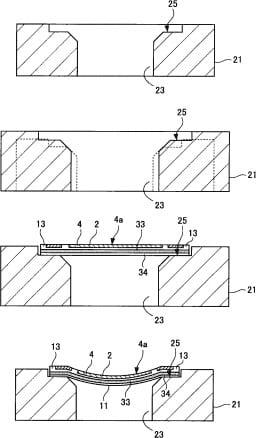 Sony gebogener Sensor Patent