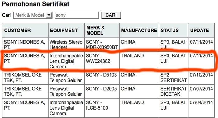 Sony neue Vollformat