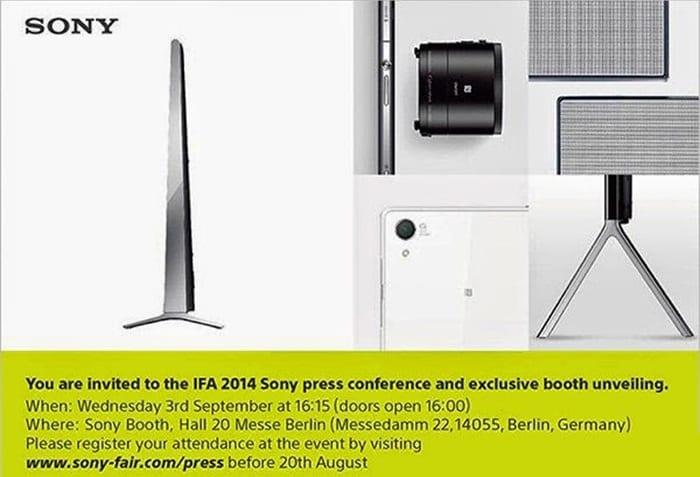 Sony Präsentation 3. September