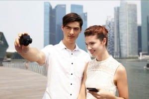 Sony QX Objektiv Kamera